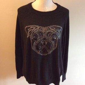 H&M beaded sequined dog sweater